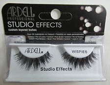 (LOT OF 10) Ardell Studio Effects WISPIES False Lashes Eyelashes Black Strip