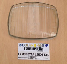 LAMBRETTA GP INNOCENTI - CEV STAMPED HEADLIGHT GLASS. NEW