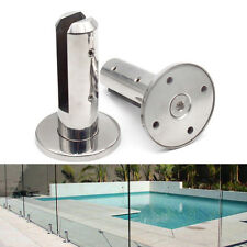 2PCS Round 304 S.S Polished Spigot Pool Fence Glass Mini Post Balustrade Spigots