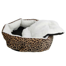 Warm Pet Puppy Dog Cat Soft Fleece Cozy Warm Bed House Cotton Mat Lepard Print S