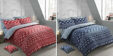 Nordic Duvet Set Red Grey Navy Quilt Cover Bedding 100%Cotton Single Double King