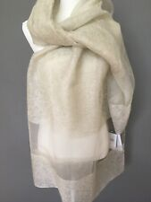 New and Authentic Max Mara Weekend Wool/Silk beige Stole. MSRP $125.00