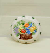 Vintage Decorative Porcelain Basket Jello Mold Artisan Dollhouse Miniature 1:12