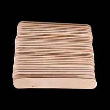100 Pcs 6 Inch Wood Tongue Depressor Large Wooden Waxing Spatula Wax Stick-Craft
