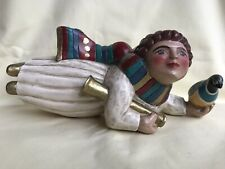 Midwest of Cannon Falls Leo R Smith Folk Art Angel Ornament With Bird Signed