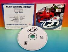 F1 2000 PC, 2000 - Game w/ Key Code on back art. Formula 1 Race Racing Rare