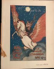 DOMERGUE JEAN GABRIEL LE BAL DES CONTES DE FÉE A L'OPÉRA  1924