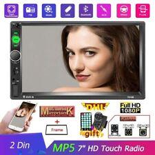 "7010B 2DIN 7"" Autoradio MP5 Player Bluetooth FM USB Aux Mirror Link + Telecamera"