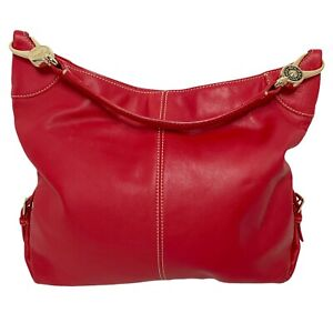 Dooney & Bourke - Red Pebble Leather Hobo Shoulder Bag