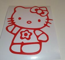 Hello kitty flower ,car decal/ sticker for windows, bumpers , panels