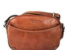 Argentine Leather Golf Style Handbag - Cognac