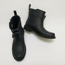 Gentle Souls Womens Ankle Boots Rain Rubber Buckles Straps Black Size US 7 M