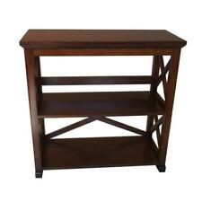 Bookcase 2-Shelf Open Back Wood Classic Etagere Style Display Stand Office Room