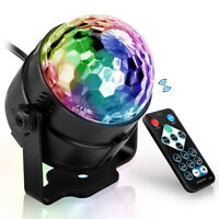 DJ Disco Stage Light 7 Colors LED RGB Sound Activated Laser Projector Ball Lamp