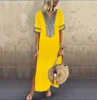 Women Maxi Dress  Beach Bikini Cover up Long dress Summer Boho Swimwear  (XL)