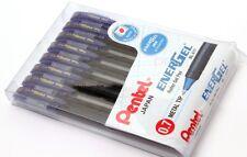 PENTEL Japan Energel ROLLER Gel PEN Lot Of 8 Pens Blue Ink 0.7 Metal Tip