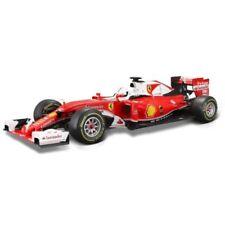 Modellini statici auto da corsa Formula 1 bianco con supporto
