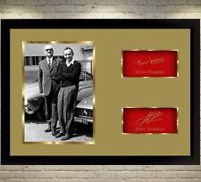 John Surtees Enzo Ferrari F1 GP Legend signed autograph Memorabilia With Frame