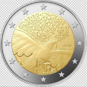 FRANCE 2 euro Commémorative La Paix en Europe 2015