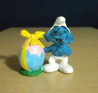 Smurfs 20490 Easter Egg Smurf Rare Vintage 1984 Figure PVC Toy Lot Peyo Figurine