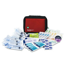 PROFESSIONAL OVERSEAS MEDICAL TRAVEL  FIRST AID KIT - IN MEDIUM RED PURSUIT BAG