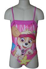 Paw Patrol Genuine Girl's Magenta Pink Swimsuit, One Piece Swimming Costume