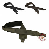 Leather Rifle Sling Ammo Hunting Shotgun Strap with Handle Black Brown
