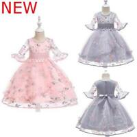 Kid Bridesmaid Baby Flower Party Tutu Dress Dresses Formal Wedding Princess Girl