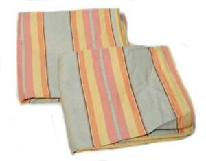 2 RALPH LAUREN Rhys Stripe KING SHAMS NEW Red Grey Gold