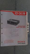 Sony icf-c411w service manual original repair book digital clock radio