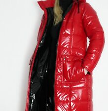 Glanznylon PVC shiny nylon MANTEL 140 Damen Coat  5 Farben XS-5XL 15 mm FÜLLUNG