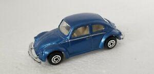 MAISTO Volkswagen VW 1300 Beetle Bug 1:64 Loose Die-cast Blue Car w/clear window