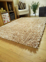 Gold Champagne Rug Spaghetti Plain Shag Sparkle Large Small Runner Noodle Mat