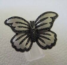 Sterling Silver & Cubic Zirconia Butterfly Ring Size 7