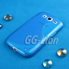 Blue TPU Gel Case Skin Cover For Samsung Galaxy S3 S iii,SGH-i747