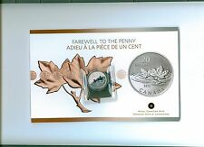 2012 CANADA $20 .9999 PURE SILVER FAREWELL TO THE PENNY  COIN  & CARD MINT