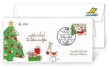 LibanPost SANTA CLAUS FDC 2012 le Liban en fête New Lebanon Stamp Christmas