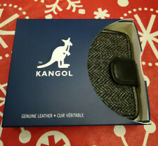 Kangol Harry Tweed Grey Slimfold Wallet For Men New With Tag Retail $75