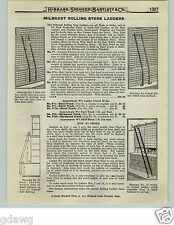 1919 PAPER AD Milbradt Brand Rolling Bicyle Tire Store Libary Ladder Trolley