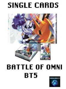 Digimon Card Game 2020 BT5 Battle Of Omni BT05 Single Cards Singles ENGLISH TCG