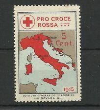 M138 Croix rouge Italienne Cendrillon 1916 AVEC SURCHARGE 5 C