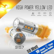 2X 900 Lumens 3157 50W SRCK CK Socket LED Amber Yellow Turn Signal Light Bulbs