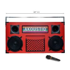 Akoustiq Professional Bassonix Bluetooth Portable Dj Speaker Remote Microphone