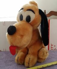 Vintage Walt Disney Pluto 11 inches Korea Stuffed Animal Plush