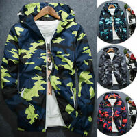 Mens Waterproof Hiking Sweatshirt Jacket Coat Outdoor Sport Casual Hoodie Tops