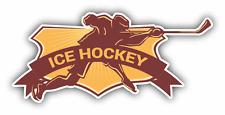 "Ice Hockey Player Stick Sport NHL Car Bumper Sticker Decal 5"" x 3"""