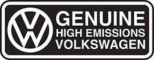 "Volkswagen VW Genuine High Emissions EPA Diesel Dieselgate TDI 4"" Decal Sticker"