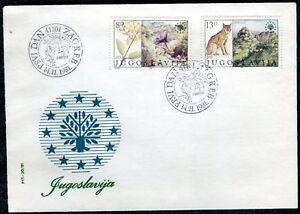 1909a - Yugoslavia 1981 - Nature Protection -Lynx-Canyon - FDC - Postmark ZAGREB