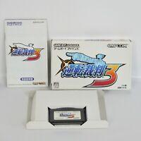 GYAKUTEN SAIBAN 3 Ace Attorney Gameboy Advance Nintendo ccc gba