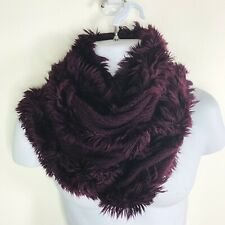 Charlie Paige Womens Scarf Eggplant Purple Fringe Fashion Accessory New A70